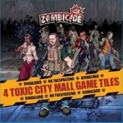 Zombicide: 4 Toxic City Mall Game Tiles expansion