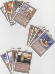 complete set of urza's lands (4x of each mine, power plant, tower)