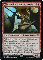 PRERELEASE promo FOIL Chandra, Fire of Kaladesh // Chandra, Roaring Flame