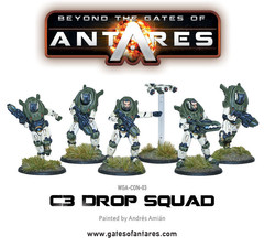 Beyond the Gates of Antares: Concord C3 Drop Squad miniatures warlord games