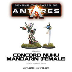 Beyond the Gates of Antares: Concord Nu-Hu Mandarin (Female) miniature warlord games