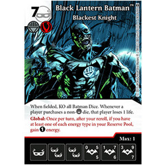 DC Dice Masters: Black Lantern Batman, Blackest Knight #140 (super rare)
