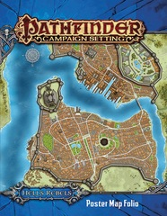 Pathfinder Campaign Setting RPG Roleplaying Game: Hell's Rebels poster map folio