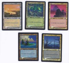 Urza's Saga FOIL DCI Arena 1999 basic lands set (1 of each)