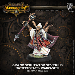 Warmachine: PRESALE The Protectorate of Menoth Grand Scrutator Severius Warcaster (resin/metal resculpt) Privateer