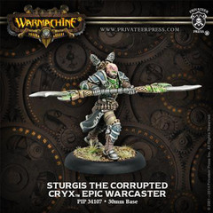 Warmachine: PRESALE Cryx Sturgis the Corrupted Epic Warcaster (metal) Privateer