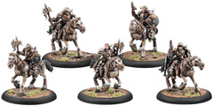 Warmachine: PRESALE Mercenaries Steelhead Heavy Cavalry Unit (5) (metal/resin repackage) Privateer