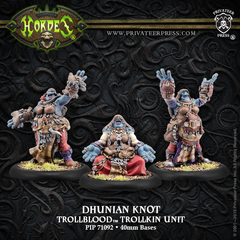 Hordes: PRESALE Trollblood Trollkin Dhunian Knot Unit (3) (metal/resin) Privateer