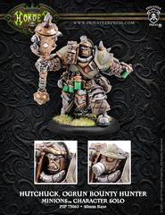 Hordes: PRESALE Minions Hutchuck, Ogrun Bounty Hunter Character Solo (metal/resin) Privateer
