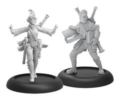 Hordes: PRESALE Minions Lynus Wesselbaum & Edrea Lloryrr Character Unit (2) (metal) Privateer