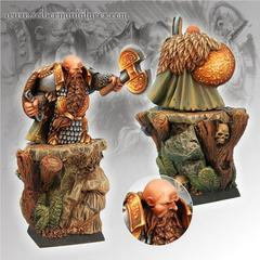 Fantasy Miniatures: Dwarf General Scibor Monstrous Miniatures