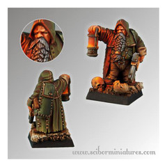 Fantasy Miniatures: Dwarf Miner Scibor Monstrous Miniatures