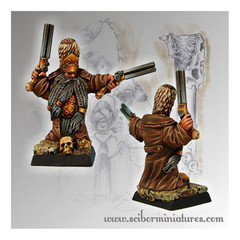 Moscals Army: Strielec Officer Dwarf Scibor Metal Miniatures