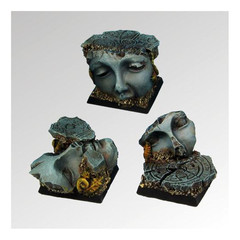 Square Bases: Ancient Ruins 25mm (3) Scibor Monstrous Miniatures