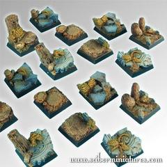 Square Bases: Forest 20mm square bases (5) Scibor Monstrous Miniatures