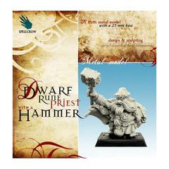 Fantasy Miniatures: Dwarf Rune Priest w/ Hammer Spellcrow