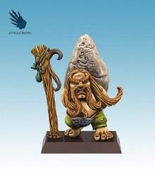 Fantasy Miniatures: Dwarf Druid Spellcrow