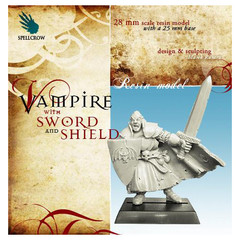 Fantasy Miniatures: Vampire w/ Sword and Shield Spellcrow