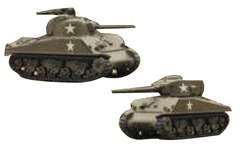Tanks Miniatures Game: US Sherman 75mm and Sherman 76mm Battlefront