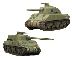 Tanks Miniatures Game: British Sherman V and Sherman Firefly Battlefront