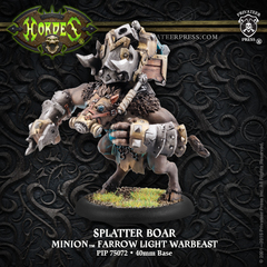 Hordes: PRESALE Minions Splatter Boar Farrow Light Warbeast (plastic) Privateer 75072