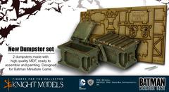 Batman Miniature Game: Scenery - Dumpsters (set of 2) Knight Models