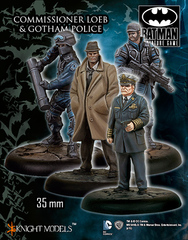 Batman Miniature Game: Commissioner Loeb & Gotham Police Knight Models