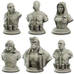 Hellboy: PRESALE Collector's Bust set of 6 board game mantic