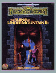 AD&D Dungeons & Dragons: The Ruins of Undermountain II - Deep Levels boxed set