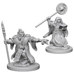 D&D Nolzur's Marvelous Unpainted Minis: Dwarf Male Wizards (pack of 2)