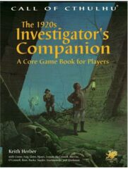 Call of Cthulhu RPG: The 1920s Investigator's Companino Keith Herber chaosium
