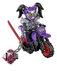 LEGO Ninjago: Ultra Violet minifigure + oni mask, weapon, motorcycle 70641 authentic