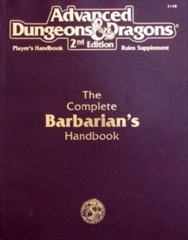 AD&D Dungeons & Dragons RPG: The Complete Barbarian's Handbook TSR