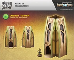 Plastic Craft Games: Energy Tower (28mm gaming terrain) INF014