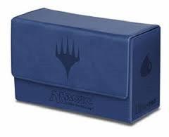 MTG: Ultra Pro Blue mana matte flip DUAL Deck Box