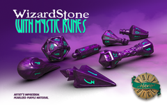 Dice: PRESALE PolyHero Wizard Set - Wizardstone with Mythic Runes game salute