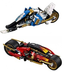 LEGO Ninjago: Kai's Blade Cycle & Zane's Snowmobile, box, instructions 70667 NO MINIFIGS authentic