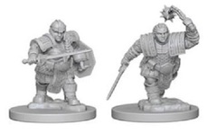 D&D Nolzur's Marvelous Unpainted Minis: Dwarf Female Fighter (pack of 2)