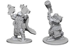 D&D Nolzur's Marvelous Unpainted Minis: Dwarf Male Cleric (pack of 2)