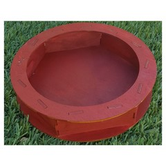 Circular Dice Tray - Cranberry: PRESALE blue panther
