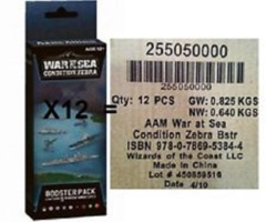 War at Sea: Condition Zebra booster case (12 booster packs)