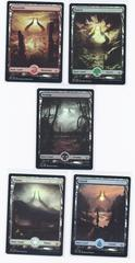 Full Art FOIL Basic Land set (1 of each type)