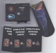 Star Trek Attack Wing: Doomsday Machine Token + Constellation + 3x Structural Damage card