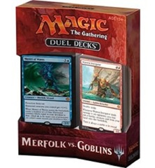 MTG: magic the gathering Merfolk vs. Goblins duel decks