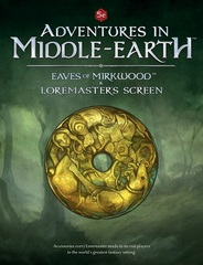 D&D 5th edition RPG: Adventures in Middle-Earth Loremaster's Screen