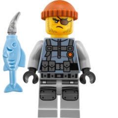 LEGO Ninjago: Shark Army Thug minifigure + weapon 70611 (water strider) authentic