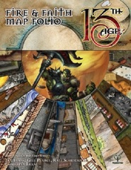 13th Age RPG: PRESALE Fire & Faith map folio book