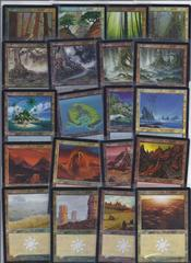 complete set of all 20 FOIL basic lands
