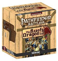 Pathfinder Battles Miniatures Tavern Bar Rusty Dragon Inn promo