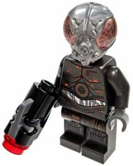 LEGO Star Wars: 4-LOM bounty hunter minifigure + blaster 75167 authentic